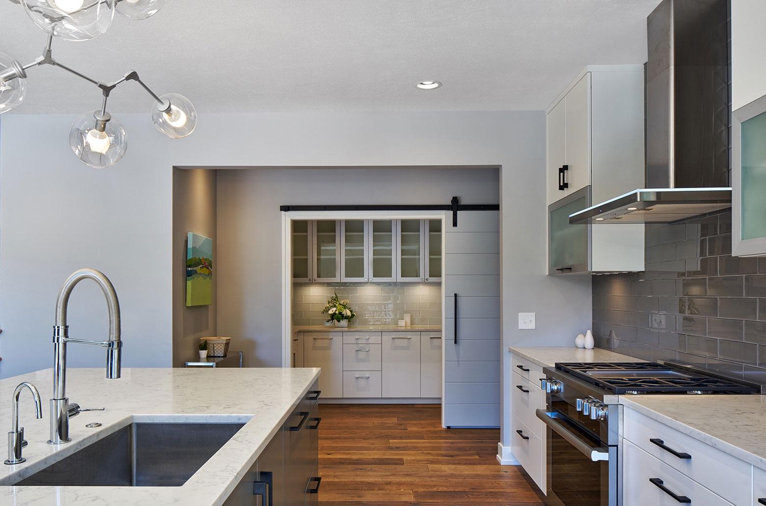farmhouse kitchen and pantry