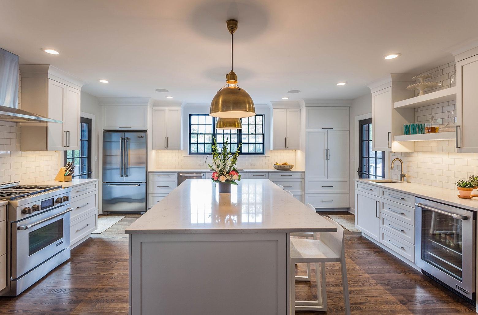 kitchen island overhead lights