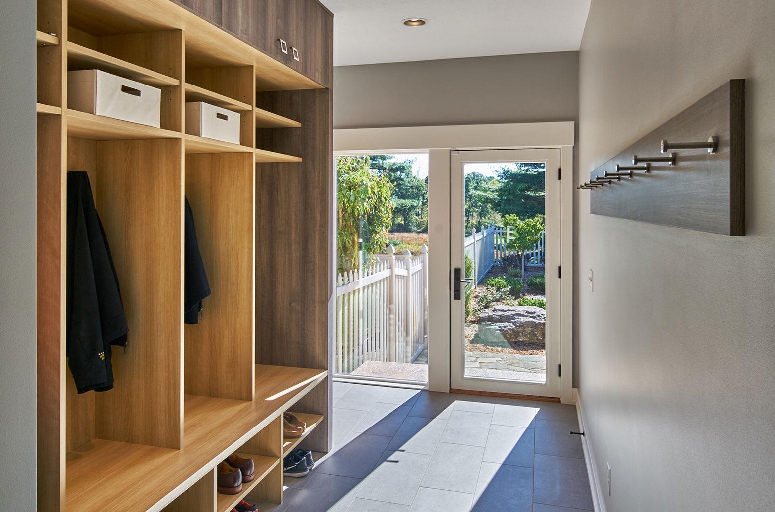 mud room wood cabinets